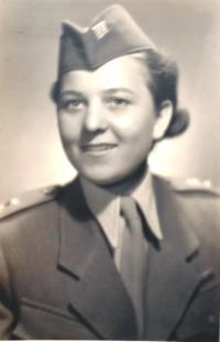 Cecílie as a member of Svoboda's Czechoslovak unit