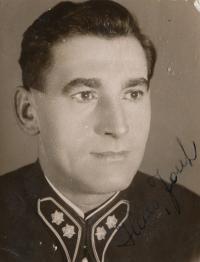 Stanislav Husa –portrait of father-legionary Josef Husa, historical photograph, around 1930's