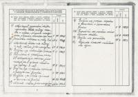 Stanislav Husa – ID with records relating to military service, 1948 – 1953, scanned copy