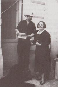 S Ivanem M. Jirousem na křtu knihu Přetlak, 1991