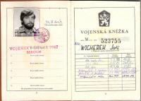 Vojenská knížka Jiřího Wicherka