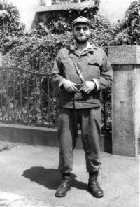 Jiří Wicherek již jako ppor. v z.,  na vojenském cvičení ve Vejprtech 1982