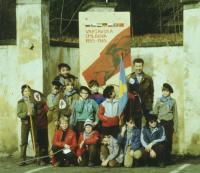 Oddíl Žlutý kvítek na výletě ve Světlé nad Sázavou, konec 80. let 20. stletí