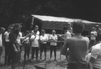 Táborový křest Neptunem, léto 1990
