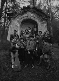 Oddíl Žlutý kvítek při přechodu Brd, druhá polovina 80. let 20. století