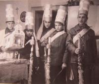 Koledníci v Chrasticích 24. prosince 1974