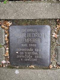 """""""Stolperstein"""" MUDr. Klemperera"""