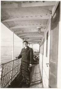 Otec Richard Heim, 1. ledna 1936 na palubě ruské lodi mířící do iránu