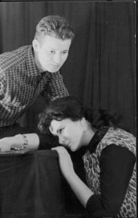 Klub-S Liberec. Rudolf Felzmann and Vlasta Šulcová. E.A. Poe: Raven (ca. 1966)