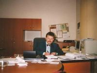 Municipal Theatre of Děčín. Rudolf Felzmann in his new director's office (ca. 1999)