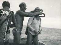 Mergel, Kukal a Šimánek (zleva) na Kubě (1964)