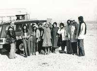 Pouštní mapování se studentkami kuvajtské univerzity (Kuvajt, 1979)