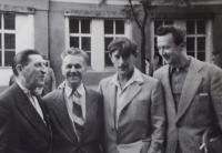 Miloslav Jareš, Otakar Černoch, Viktor Někrasov a Václav Daněk (zleva)