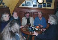 Zleva: I. Jirous, J.Pecha, J. Steklík, P. Wilson, P. Oslzlý, 2010