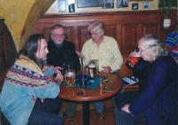 Zleva: J.E. Frič, J. Steklík, P.Wilson, I. Jirous, 2010