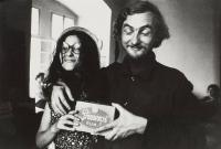 Fotografie Heleny Wilsonové: Jan Steklík a Duňa Brikciusová, akce Zorky Ságlové Pocta Fafejtovi,