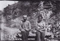 1944, quarry, Filakovo, south Slovakia, Ján Novenko and associate