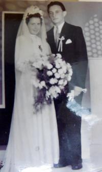 Wedding photo of Josef Tomica and Marie