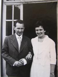 Hübnerová s manželem