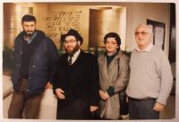 Manželé Mayerovi krátce po příletu do Izraele - 1991