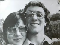 Hana Ryšková (Holcnerová) s přítelem v roce 1978