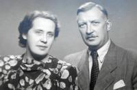 ing. Karel Faber (otec) a matka Aloisie - svatební foto