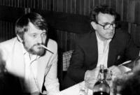 Milan Lasica and Miloš Forman
