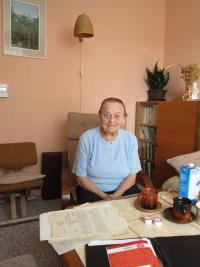 Andela Cerna in her house, 2015