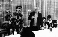Fabinger Jiří - beseda s Miroslavem Horníčkem 1989