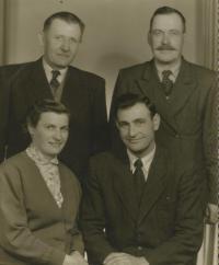 Residents from Bludov in Volyn. Standing left godfather witness Aexandr Vodrážka