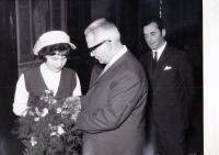 Druhý svatba s první manželkou, Roztoky, 1969