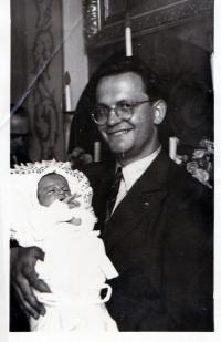 Křest syna Stanislava, Roztoky 1949