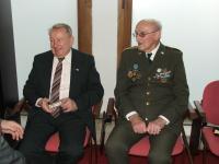 František Zahrádka a Jiří Zenahlík na vernisáži výstavy - únor 2008