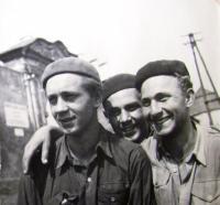 Břetislav Loubal with friends, 1950