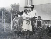 Břetislav Loubal, with his family
