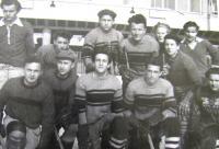 Břetislav Loubal, ice-hockey, ice arena in Brno, March 1950