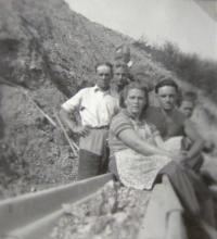 Lime works in Čebín, 1953