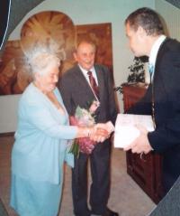 Miroslav Soukup se ženou, zlatá svatba 2010