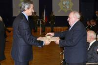 Miroslav Soukup při přebírání ocenění, 2014