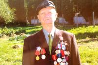 Koloman Hamar wearing his badges of honour