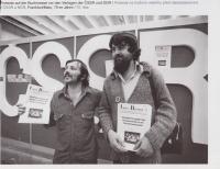Protest na knižním veletrhu ve Frankfurtu, 70. léta