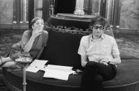Ottilia Solt and Gabor Havas in the Parliament, cc. 1992