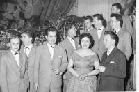 Members of Siloš Pohánka Orchestra in 1959