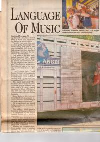 """Sacramento Bee"" paper from May, 1992 covering T&R band from Bratislava"