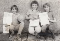 David Kabzan, vlevo, 1980