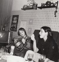 David Kabzan s maminkou, asi 1978