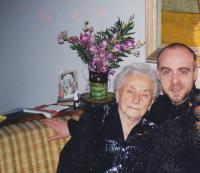 David Kabzan s babičkou dr.Zdenou Kabzanovou