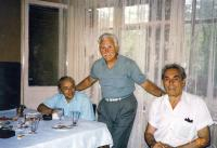 Miltiade Ionescu together with other two former political prisoners, Paul Iovănescu (right side) and Valentin George Sarry (in the middle)
