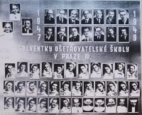 Graduation photos of the nursing school in Prague, which also Anna attended