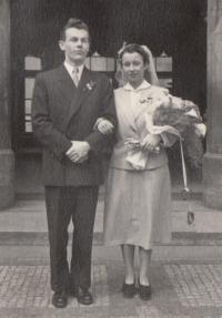 Manželé Eva a Liboš Bubnovi, Praha - Letná 10. 4. 1954